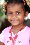 Fille indienne mignonne de village photo stock