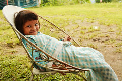 Fille indigène de Bagobo Image stock