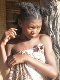 Fille indigène malgache Images libres de droits