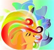 Fille iridescente Illustration de Vecteur