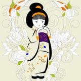 Fille japonaise Photographie stock