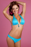 Fille latine de bikini Photographie stock libre de droits