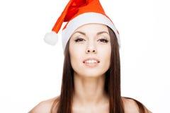 Fille magnifique de Santa Photo stock