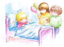 Fille malade Image libre de droits