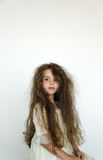 Fille malpropre de cheveu Photo stock