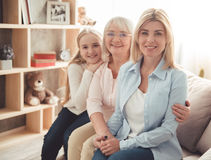 Fille, maman et mamie Image libre de droits