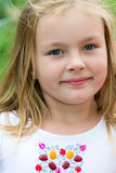 Fille mignonne cinq années Images libres de droits