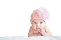 Fille mignonne dans le chapeau Photo libre de droits