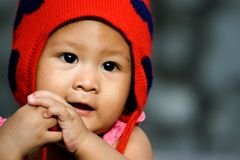 fille mignonne de chéri asiatique image libre de droits