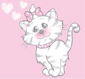 Fille mignonne de chaton Images libres de droits