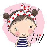 Fille mignonne de dessin animé Image stock