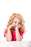 Fille mignonne de goldilocks Photographie stock libre de droits