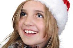 Fille mignonne de Noël photographie stock
