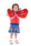 Fille mignonne de Valentine. Photographie stock libre de droits