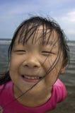 fille mignonne proche d'Asiatique vers le haut Photo stock