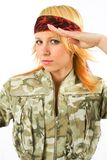 Fille militaire Image stock