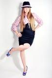 Fille, modèle, fond, bureau, blond Images libres de droits