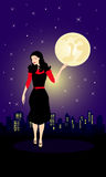 Fille nocturne Illustration Libre de Droits