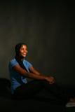 fille noire assez d'adolescent Photographie stock libre de droits