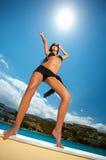 Fille noire de bikini Photographie stock libre de droits