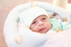 Fille nouveau-née Photographie stock