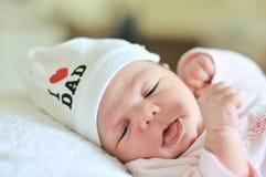 Fille nouveau-née minuscule Image libre de droits
