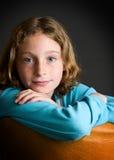 Fille observée assez bleue Photo libre de droits
