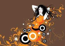 Fille orange de passion illustration stock