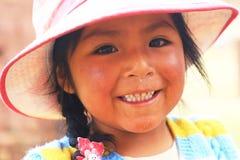 Fille péruvienne Photo stock