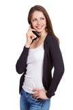 Fille parlant à quelqu'un au téléphone Image libre de droits