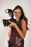 Fille - photographe Photo stock