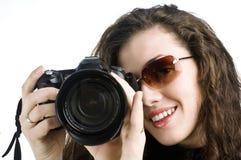Fille-photographe Photo stock