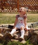 Fille pleurante photo stock