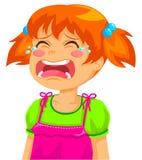 Fille pleurante Photographie stock