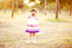 Fille pleurante Image stock