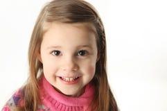 Fille préscolaire de sourire mignonne Image libre de droits