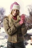 Fille prête pour l'hiver Images libres de droits