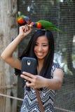 Fille prenant le selfie Image libre de droits