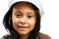 fille proche souriant vers le haut Photographie stock libre de droits