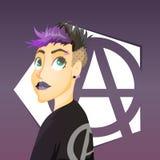 Fille punk illustration libre de droits
