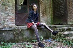 Fille punk Image stock
