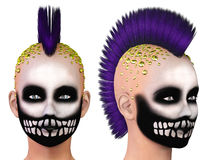 Fille punk squelettique Photographie stock