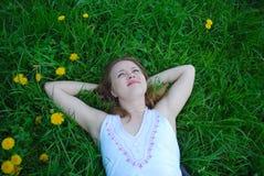 Fille rêveuse Photo stock