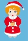 Fille rectifiée comme Santa Image stock