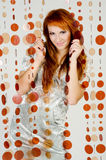 Fille Red-haired Photographie stock