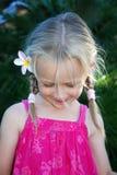 Fille regardant vers le bas Photographie stock libre de droits