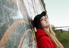 Fille romantique d'adolescent urbain image libre de droits
