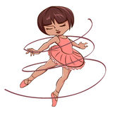 Fille rose mignonne de ballerine Photos libres de droits