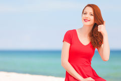 Fille rousse image stock