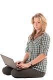 Fille rousse avec le cahier Image libre de droits